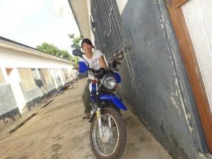 私のバイクです